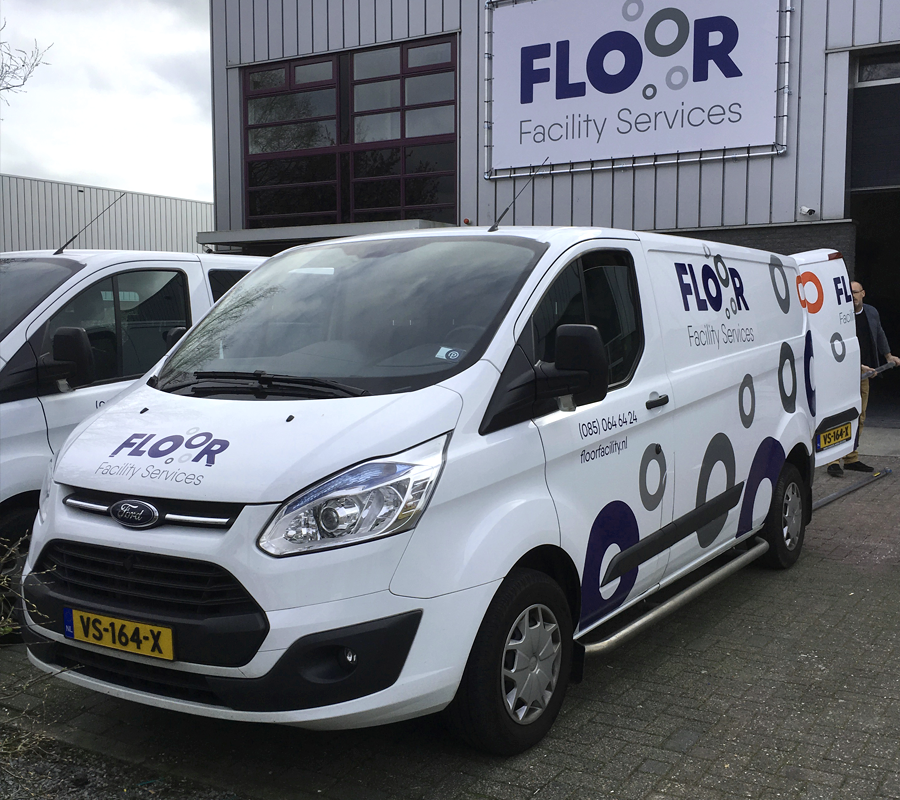 floor facility services busbelettering