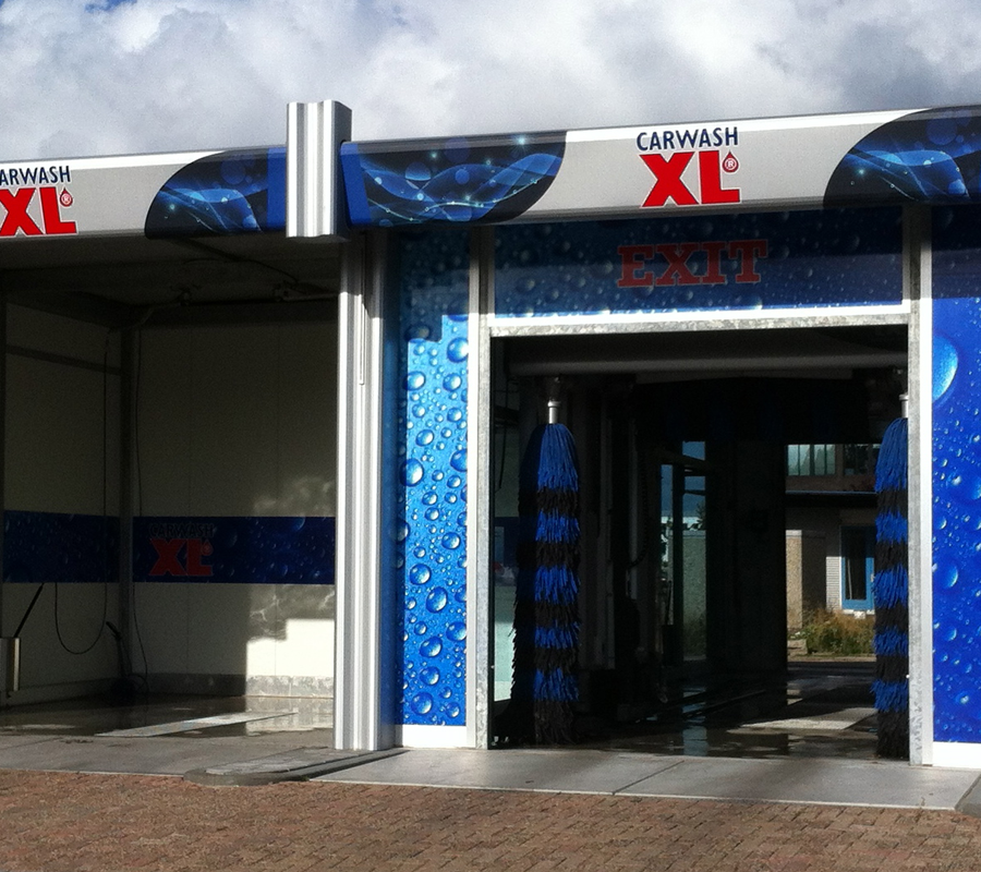 Carwash XL gevel belettering
